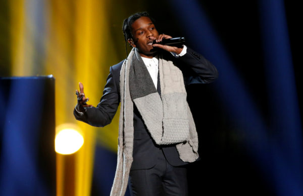 FILE PHOTO: A$AP Rocky performs in Los Angeles in 2014. Photo by REUTERS/Mario Anzuoni