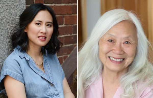 """Authors Celeste Ng (L) and Maxine Hong Kingston (R). Ng chose Kingston's """"The Woman Warrior"""" for the August book club pick. Credit: Kevin Day Photography and Maryanne Teng Hogarth."""