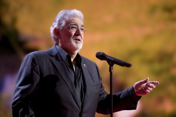 """Spanish tenor Placido Domingo sings during the """"Ein Herz fuer Kinder"""" (A Heart for Children) TV charity telethon in Berlin, December 15, 2012. Photo by Axel Schmidt/Reuters"""