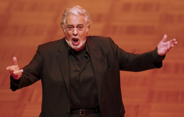 Opera singer Placido Domingo performs during a dress rehearsal the day before the traditional Opera Ball in Vienna, Austria, February 3, 2016. Photo by Heinz-Peter Bader/Reuters