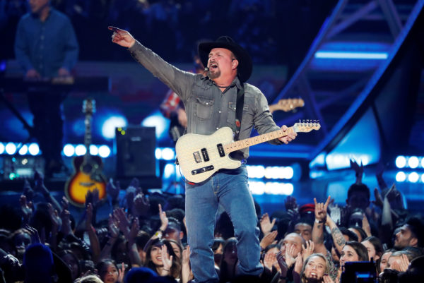 Singer Garth Brooks performs during the iHeartRadio Innovator Award during the iHeartRadio Music Awards in Los Angeles, California, U.S., March 14, 2019. Photo by Mario Anzuoni/Reuters
