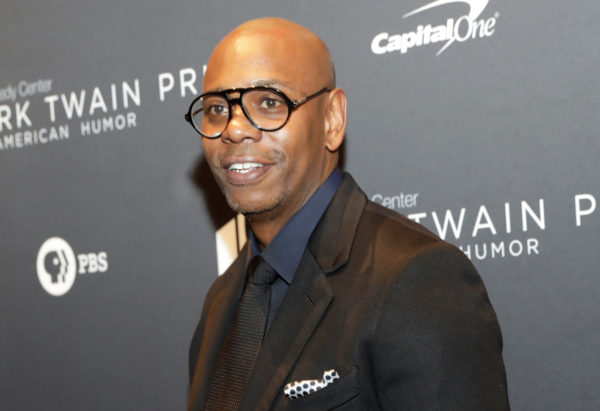 Comedian Dave Chappelle arrives to receive the Mark Twain Prize for American Humor at the Kennedy Center in Washington, U.S., October 27, 2019. Photo by Yuri Gripas/Reuters
