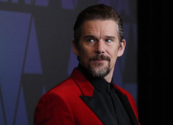 Ethan Hawke appearing at the 2018 Governors Awards in Hollywood, California. Photo by Mario Anzuoni/Reuters