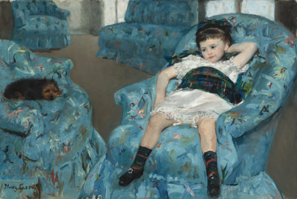 """Mary Cassatt's """"Little Girl in a Blue Armchair"""" (1878).Image courtesy of Collection of Mr. and Mrs. Paul Mellon/National Gallery of Art"""