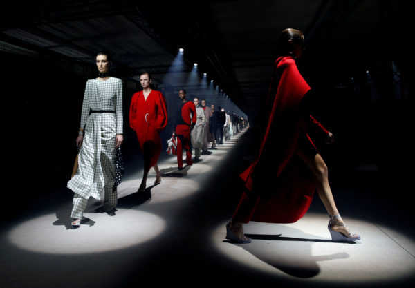 Kaia Gerber and other models present creations by designer Clare Waight Keller as part of her Fall/Winter 2020/21 women's ready-to-wear collection show for fashion house Givenchy during Paris Fashion Week in Paris, France, March 1, 2020. Photo by Gonzalo Fuentes/Reuters