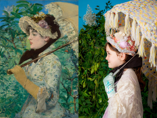 """On the left, Nicolaes Pickenoy's """"Portrait Of A Young Woman."""" On the right, a recreation of the 1632 painting, with a toilet paper collar. Painting courtesy of J. Paul Getty Museum. Photo recreation by Bryan Beasley"""
