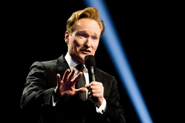 Host Conan O'Brien on stage during the 2016 Nobel Peace Prize Concert at in Oslo, Norway. Photo by Jon Olav Nesvold/NTB Scanpix via Reuters