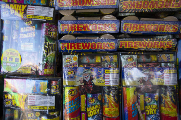 Fireworks stand in Hawthorne for the 4th of July