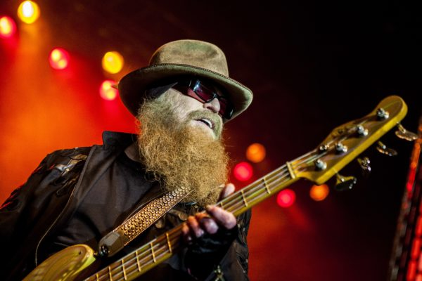 The American rock band ZZ Top performs a live concert at Scandinavian Congress Center in Aarhus. Here bass player Dusty Hill is seen live on stage. Aarhus, Denmark on 13th, July 2016.