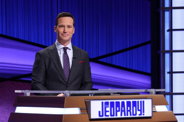 """An undated handout photo of new """"Jeopardy!"""" host Mike Richards"""