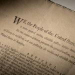 Handout image of an extremely rare official first-edition printed copy of the U.S. Constitution as adopted by delegates to...