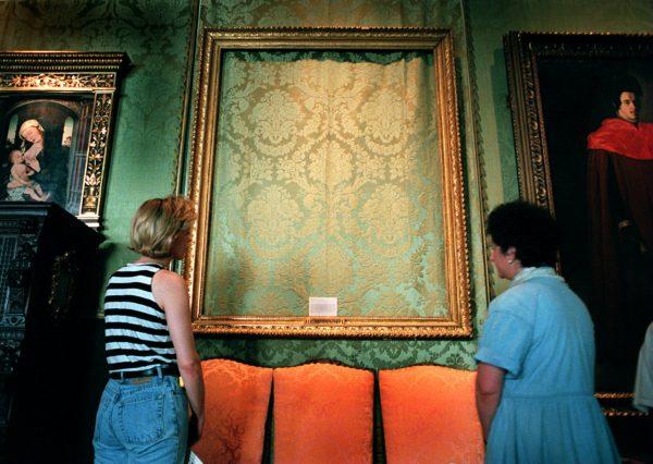 Empty Frame At The Isabella Stewart Gardner Museum