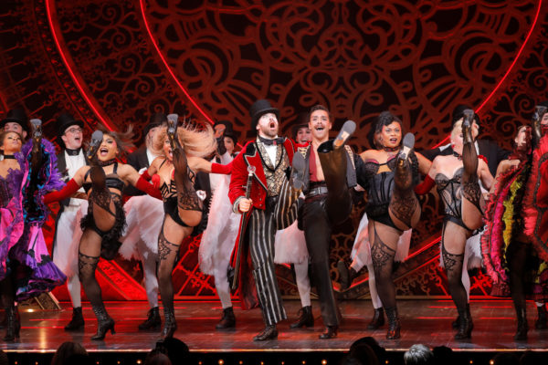Performers from Moulin Rouge! The Musical appear during the show's collaboration with The Blonds Spring 2020 collection pr...