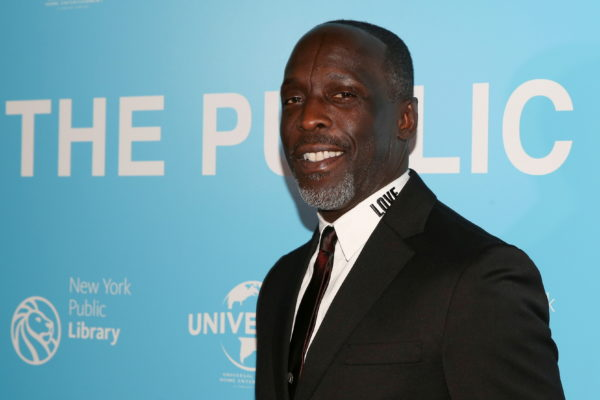 """FILE PHOTO: Michael K Williams arrives for the premiere of """"The Public"""" at the New York Public Library in New York, U.S., ..."""