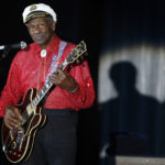 Rock and roll legend Chuck Berry performs during the Bal de la Rose in Monte Carlo March 28, 2009. The Bal de la Rose is a traditional annual charity event in aid of Foundation Princess Grace. Photo by Eric Gaillard/REUTERS